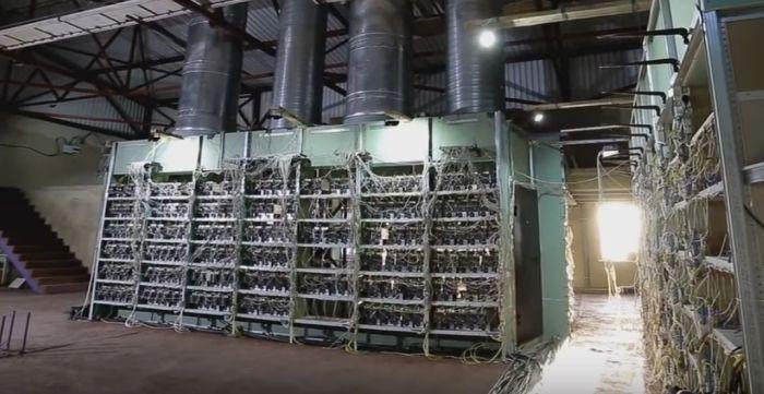 تهویه مزرعه استخراج رمزارز